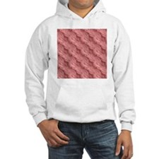 Wavy Red Texture Abstract Patter Jumper Hoody