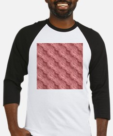 Wavy Red Texture Abstract Pattern Baseball Jersey
