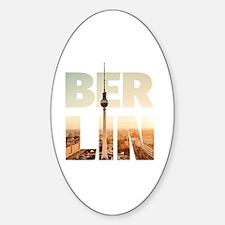 BERLIN CITY – Typo Sticker (Oval)