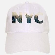 NYC for NEW YORK CITY - Typo Baseball Baseball Cap