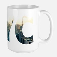 NYC for NEW YORK CITY - Typo Large Mug
