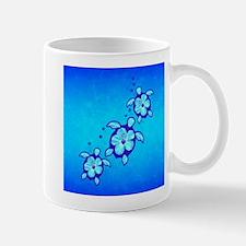 3 Blue Honu Turtles Mugs
