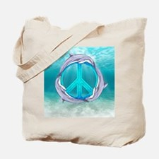 Dolphin Peace Tote Bag