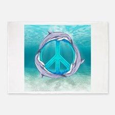 Dolphin Peace 5'x7'Area Rug