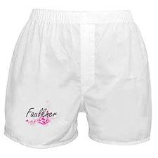 Faulkner surname artistic design with Boxer Shorts