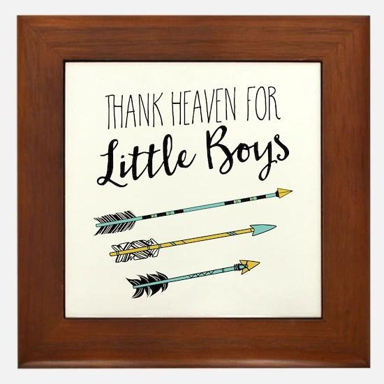 Thank Heaven For Little Boys Framed Tile