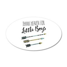 Thank Heaven For Little Boys Wall Decal