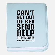 Help Send Pancakes baby blanket
