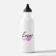 Evans surname artistic Water Bottle