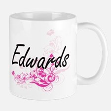 Edwards surname artistic design with Flowers Mugs