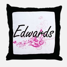 Edwards surname artistic design with Throw Pillow