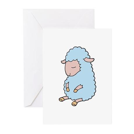 Light Blue Baby Lamb Greeting Cards (Pk of 20)