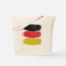 Germany Flag paint-brush Tote Bag