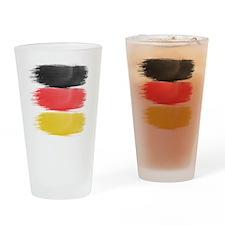 Germany Flag paint-brush Drinking Glass
