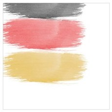 Germany Flag paint-brush Canvas Art
