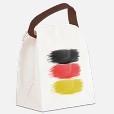 Germany Flag paint-brush Canvas Lunch Bag