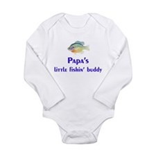 Cute Fishin Long Sleeve Infant Bodysuit