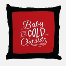 Baby It's Cold Outside [red] Throw Pillow
