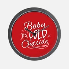 Baby It's Cold Outside [red] Wall Clock