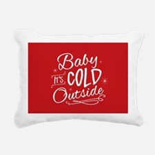 Baby It's Cold Outside [red] Rectangular Canvas Pi