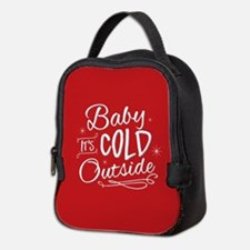 Baby It's Cold Outside [red] Neoprene Lunch Bag