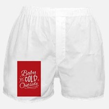 Baby It's Cold Outside [red] Boxer Shorts