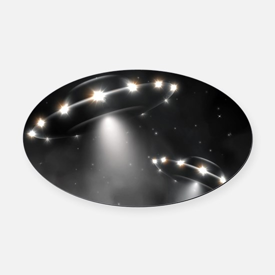 UFO Oval Car Magnet