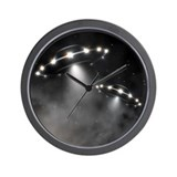Alien flying saucer Wall Clocks