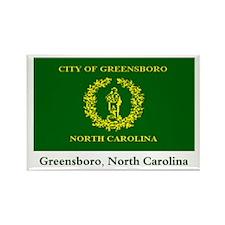 Greensboro NC Flag Rectangle Magnet