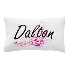 Dalton surname artistic design with Fl Pillow Case