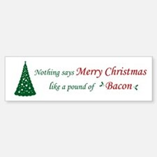 Christmas Bacon Bumper Bumper Sticker