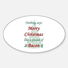 Christmas Bacon Decal
