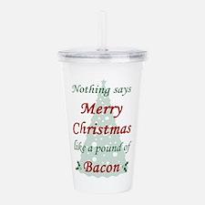 Christmas Bacon Acrylic Double-wall Tumbler
