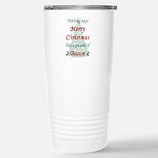 Christmas Bacon Stainless Steel Travel Mug