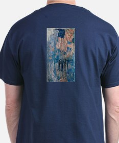 The Avenue in the Rain by Hassam T-Shirt