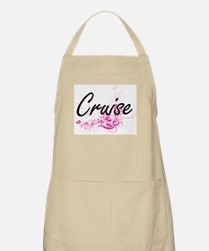 Cruise surname artistic design with Flowers Apron