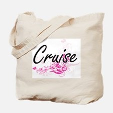 Cruise surname artistic design with Flowe Tote Bag