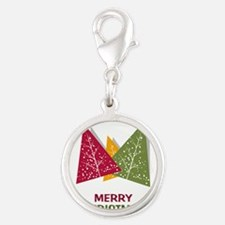 Tricolor Triangle Christmas Trees Merry Chr Charms