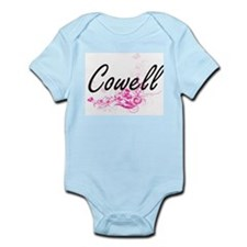 Cowell surname artistic design with Flow Body Suit