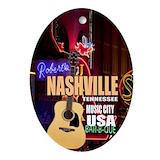 Nashville Oval Ornaments