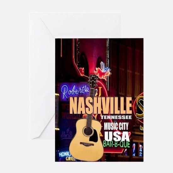 Nashville Music City-05 Greeting Card