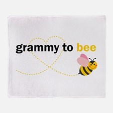 Grammy To Bee Throw Blanket