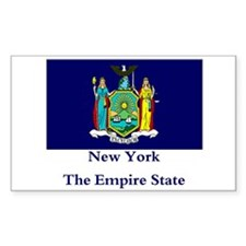 New York State Flag Rectangle Stickers