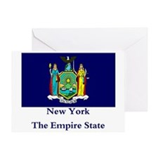 New York State Flag Greeting Card