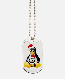 tux merry christmas1.png Dog Tags