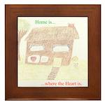 Home Heart Framed Tile
