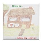 Home Heart Tile Coaster