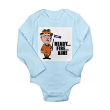 Cute Dick cheney Long Sleeve Infant Bodysuit
