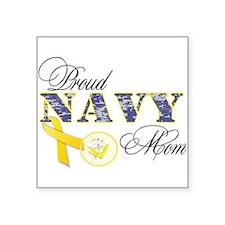 """Unique Navy seabee Square Sticker 3"""" x 3"""""""