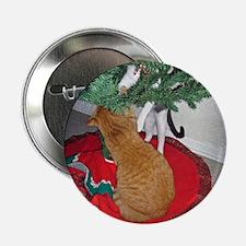 """2 Cats a Climbing 2.25"""" Button (10 pack)"""